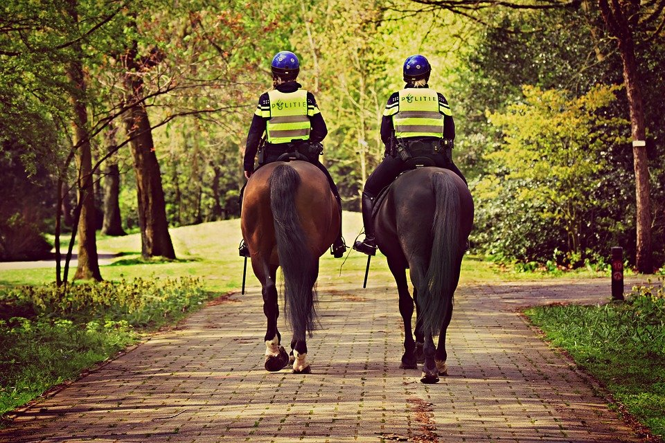 Is Amsterdam Safe? Dutch police on horseback